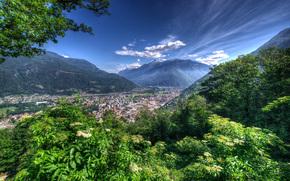 Bellinzona, Suiza, paisaje