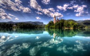 Блед Остров, Словения, пейзаж