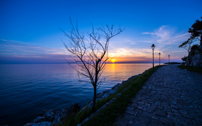 Rovigno, Croazia, tramonto, paesaggio