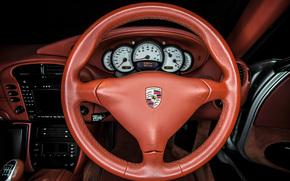Porsche 911 Carrera, Porsche, Carrera, volante, dashboard, interior, pele