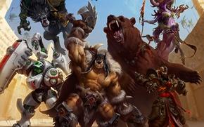 Heroes of the Storm, Arena Mode, Rexxar, Kharazim, Lt Morales, Grisetête, Lunara, porter