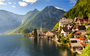 Hallstatt, Austria, Lake Hallstatt, Alps, Hallstatt, Austria, Lake Hallstatt, Alps, lake, Mountains, home