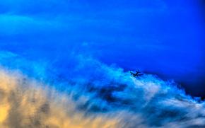 cielo, nuvole, samollёt