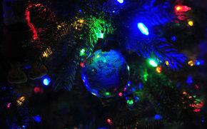 Albero di Natale, Addobbi natalizi, Palloncini, luci