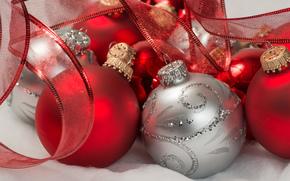 Christmas decorations, Christmas balls, New Year
