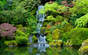 Wallpapers Japanese Garden Washington Park Portland Oregon Waterfall On Your Desktop