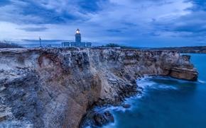 Cabo Rojo, Portorico, tramonto, mare, rocky, paesaggio