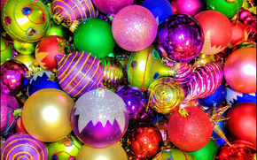 New Year, Christmas tree decorations, Balloons, decoration