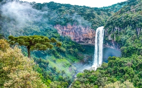 Cascata Do Caracol, State Park, Caracole, Canela, Rio Grande do Sul, Brazil, vodorad, landscape