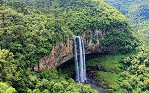 Cascata Do Caracol, State Parco, Caracole, Canela, Rio Grande do Sul, Brasile, vodorad, paesaggio