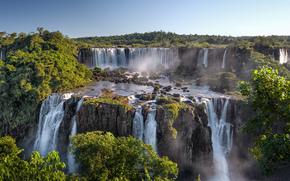 Cascate di Iguazu, Si trova al confine sud-occidentale del Brasile, Argentina, cascata, paesaggio