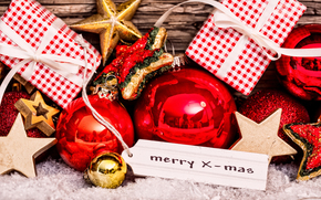 New Year, Christmas, ornamentation, Toys, Balls, Star, gifts