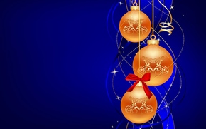 nvogodnie Wallpaper, Balões, feliz ano novo