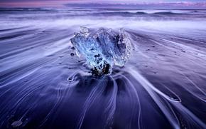 лёд, ледник, льдины, зима, море