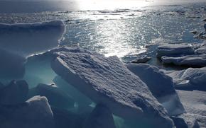gelato, ghiacciaio, inverno, pond