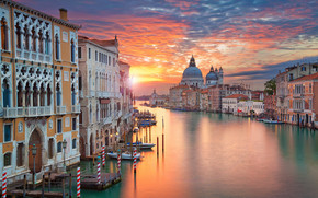 Venecia, Italia, puesta del sol