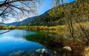 Палмер Озеро, Эль-Пасо, штат Колорадо, США, осень, пейзаж