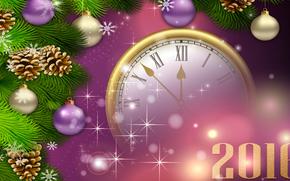 Neujahr, 2016, Urlaub, Datum, Ornamentik, beobachten