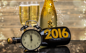 New Year, 2016, holiday, date, watch, stemware