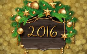 : Carta da parati di Natale, 2016, con il nuovo 2016