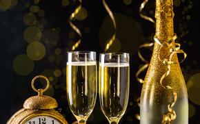 Новый год, 2016, праздник, шампанское