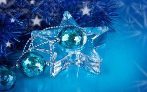 Sfondi di Natale, ornamentazione, Palloncini