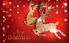 Buon Natale, Sfondi di Natale, cervo