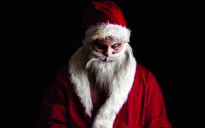 Дед Мороз, Санта Клаус, зомби, Новый год, Рождество, праздник