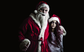 Santa Claus, Santa Claus, Snow-maiden, zombie, New Year, Christmas, holiday