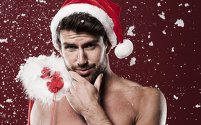 Papá Noel, Papá Noel, Año Nuevo, Navidad, Musculosos, hombre, fiesta