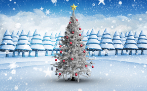 Christmas tree, Christmas Wallpaper, fir-tree, Toys