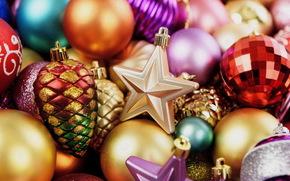 Christmas toys, Christmas decorations, Christmas Wallpaper