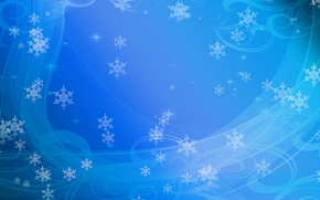 winter abstraction, Snowflakes, background