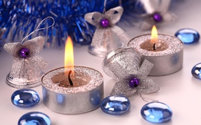 New Year, Candles, Christmas Wallpaper