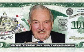доллары, деньги, фрс, рокфеллер, нефть, банк, карикатура