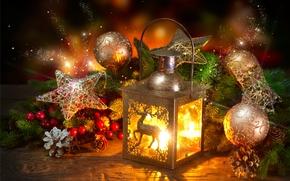 Sfondi di Natale, Luci di Natale, Giocattoli