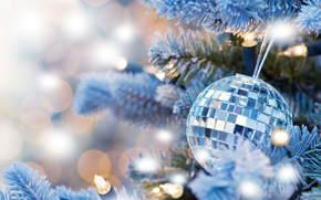 Christmas Wallpaper, Balloons, Christmas decorations