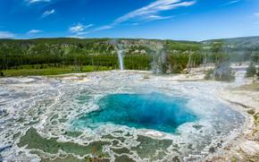 Turquoise pool, Yellowstone National Park, Wyoming, landscape