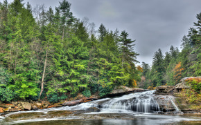 Swallow Falls State Park, Maryland, USA, Tolliver waterfall