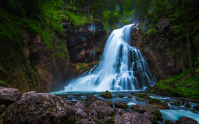 Gollinger Waterfall, Austria, waterfall, nature