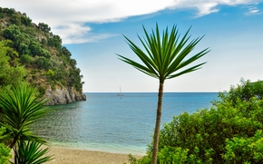 Parga, Greece, sea, landscape
