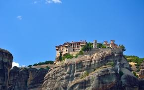 Griechenland, Meteora Kloster, Montagne, Rocce, paesaggio