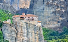 Griechenland, Meteora Kloster, Montagne, Rocce, tramonto, paesaggio