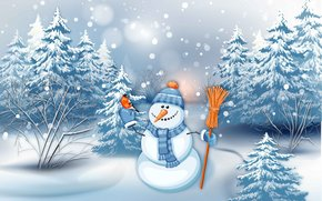 Christmas Wallpaper, Christmas Background, happy new year, snowman