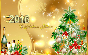 Christmas Wallpaper, Christmas Background, Happy New Year 2016