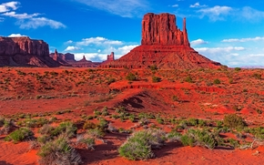Monument Valley, Utah, горы, скалы, пейзаж