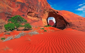 Monument Valley, Utah, rock, arch, landscape