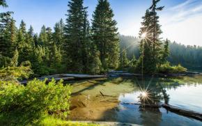Mowich Lago, Mount Rainier National Park, Stato di Washington