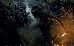 Rise of the Tomb Raider, Tomb Raider, Lara Croft, scheletri, Art
