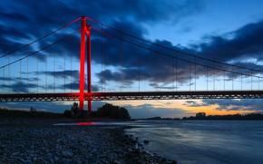 Emmerich Rhine Bridge, Rhine River, Emmerich am Rhein, North Rhine-Westphalia, Germany, Emmerich Rhine Bridge, Rhine River, Emmerich am Rhein, North Rhine-Westphalia, Germany, bridge, river